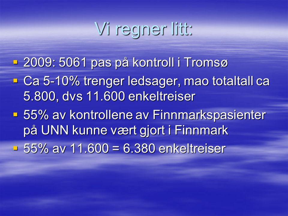 Vi regner litt: 2009: 5061 pas på kontroll i Tromsø