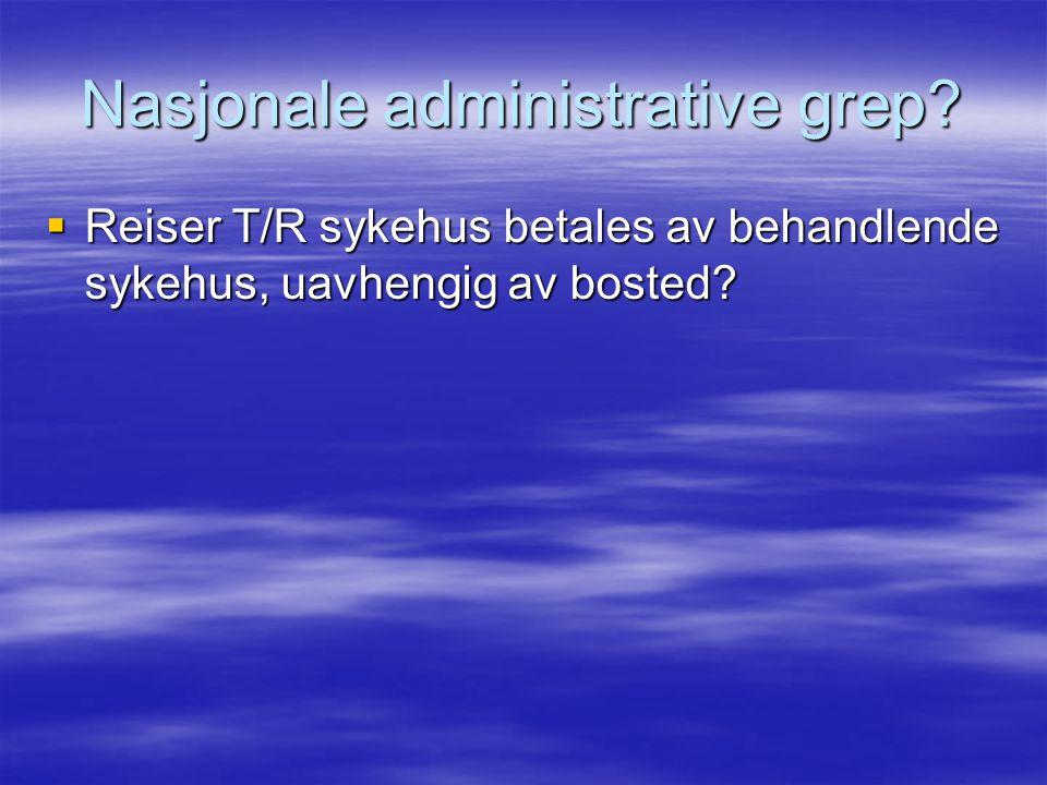 Nasjonale administrative grep