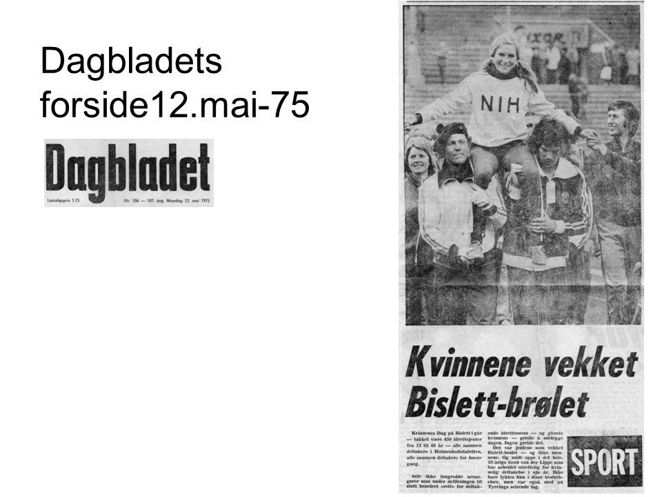 Dagbladets forside12.mai-75