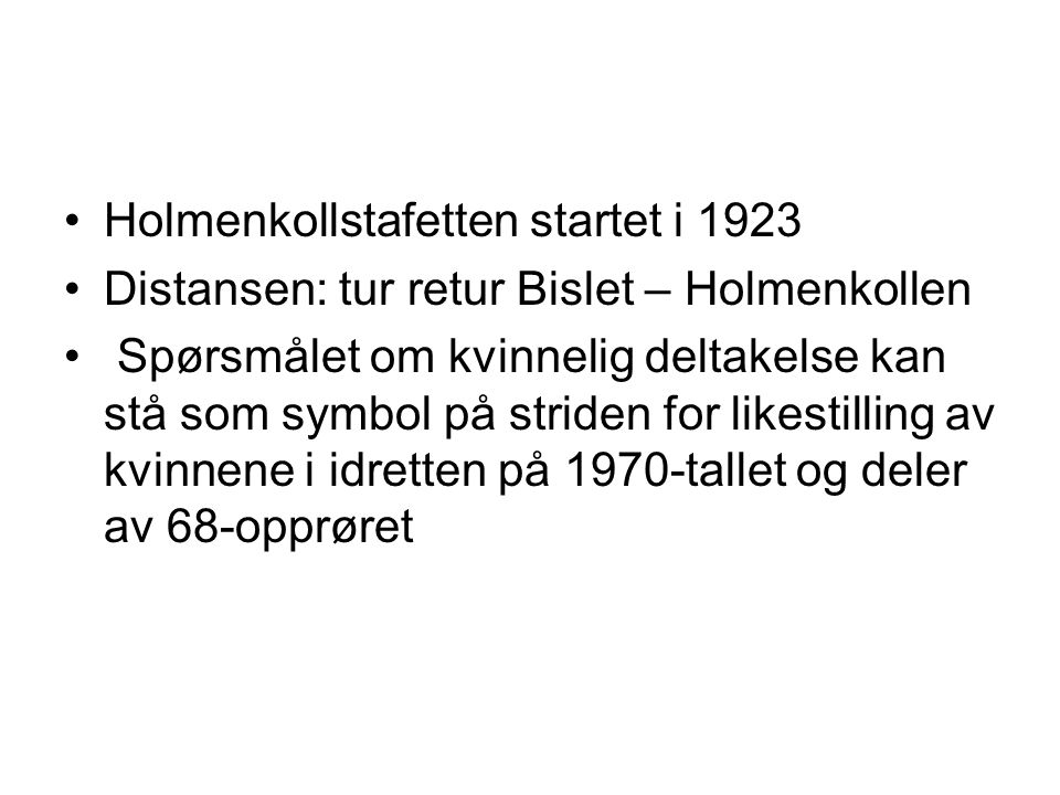 Holmenkollstafetten startet i 1923