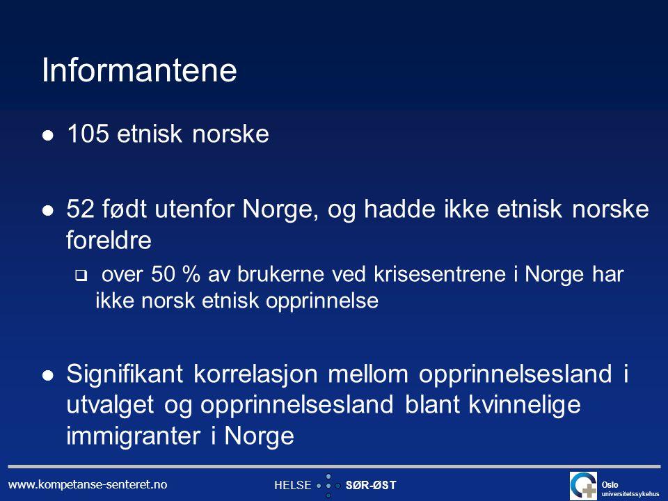 Informantene 105 etnisk norske