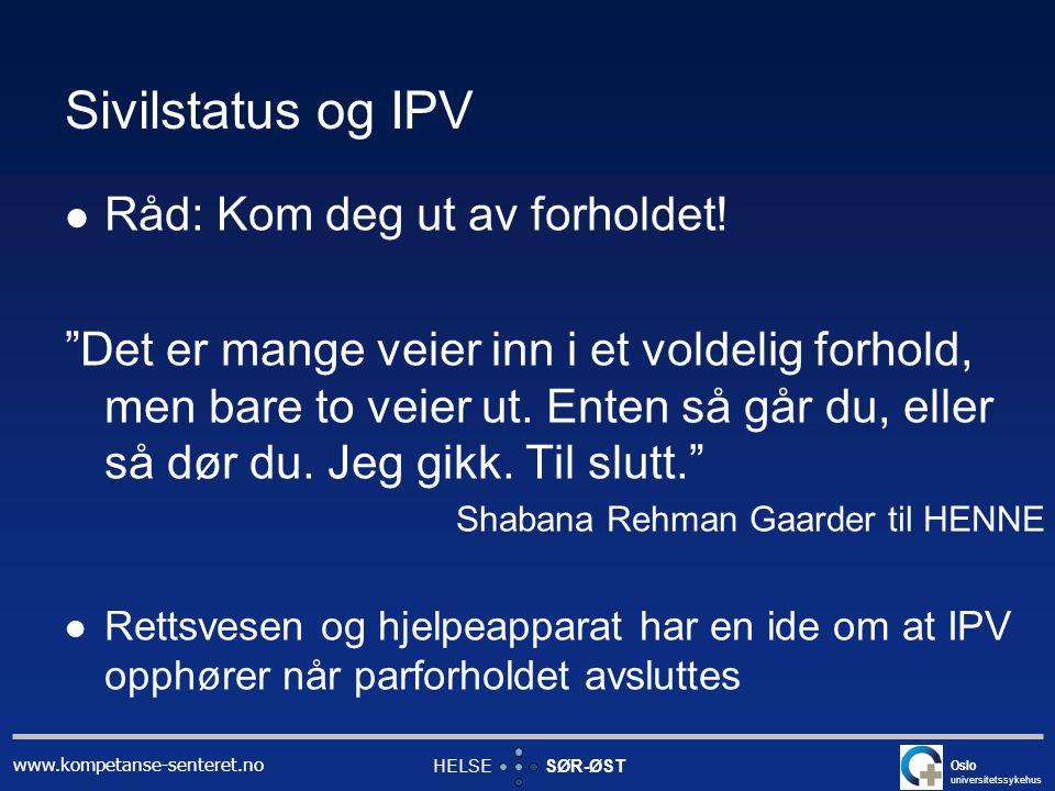 Sivilstatus og IPV Råd: Kom deg ut av forholdet!