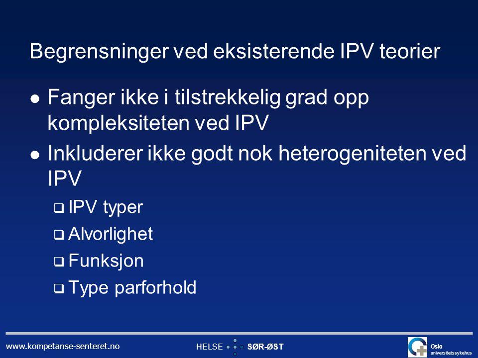 Begrensninger ved eksisterende IPV teorier
