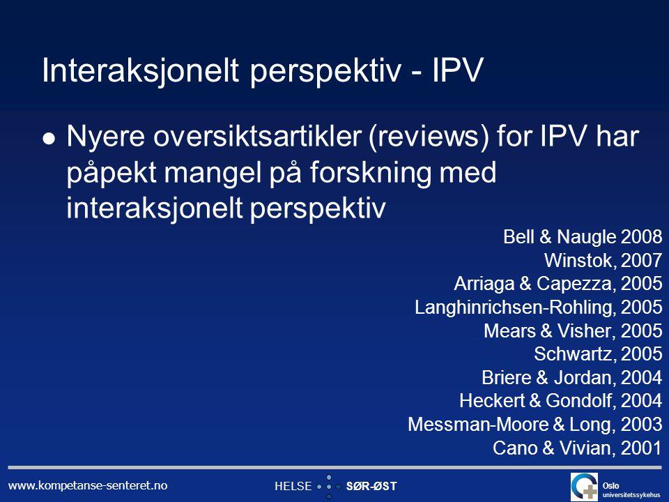 Interaksjonelt perspektiv - IPV