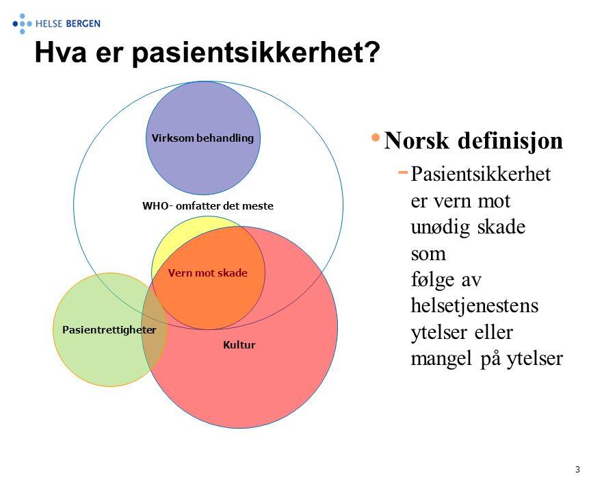 Hva er pasientsikkerhet