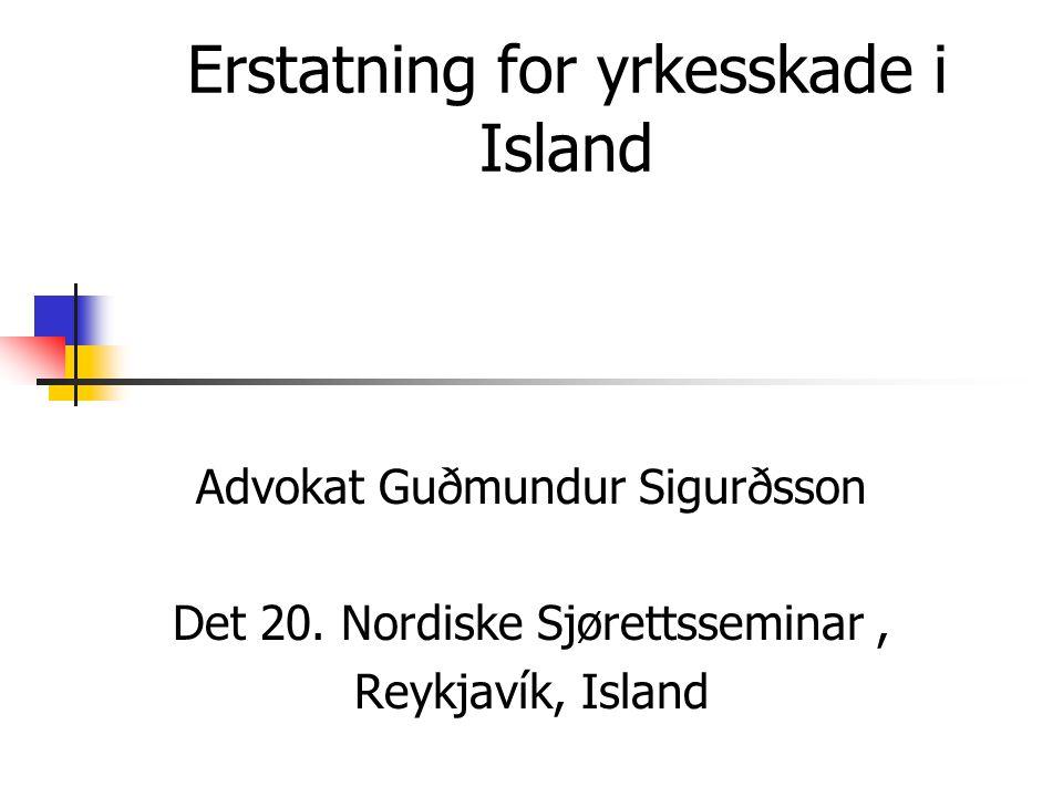 Erstatning for yrkesskade i Island