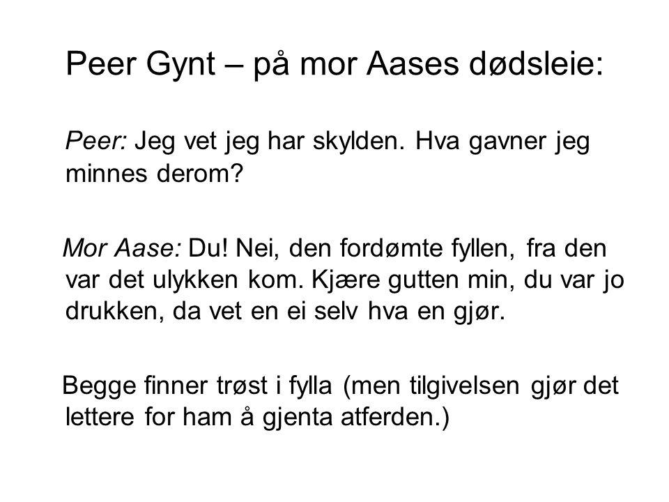 Peer Gynt – på mor Aases dødsleie: