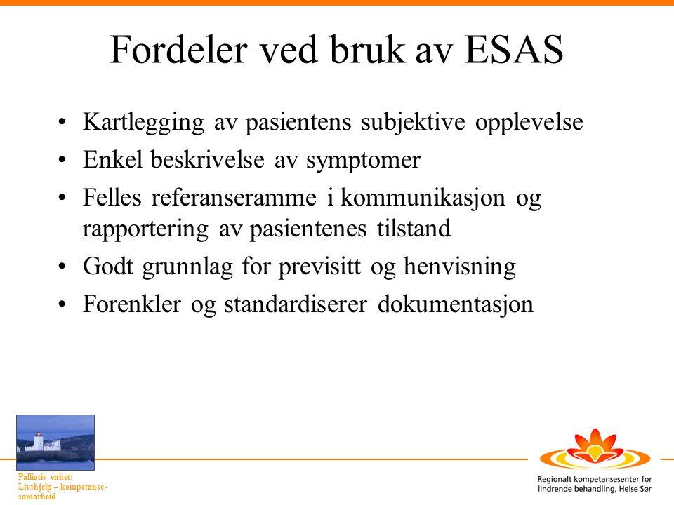 Fordeler ved bruk av ESAS