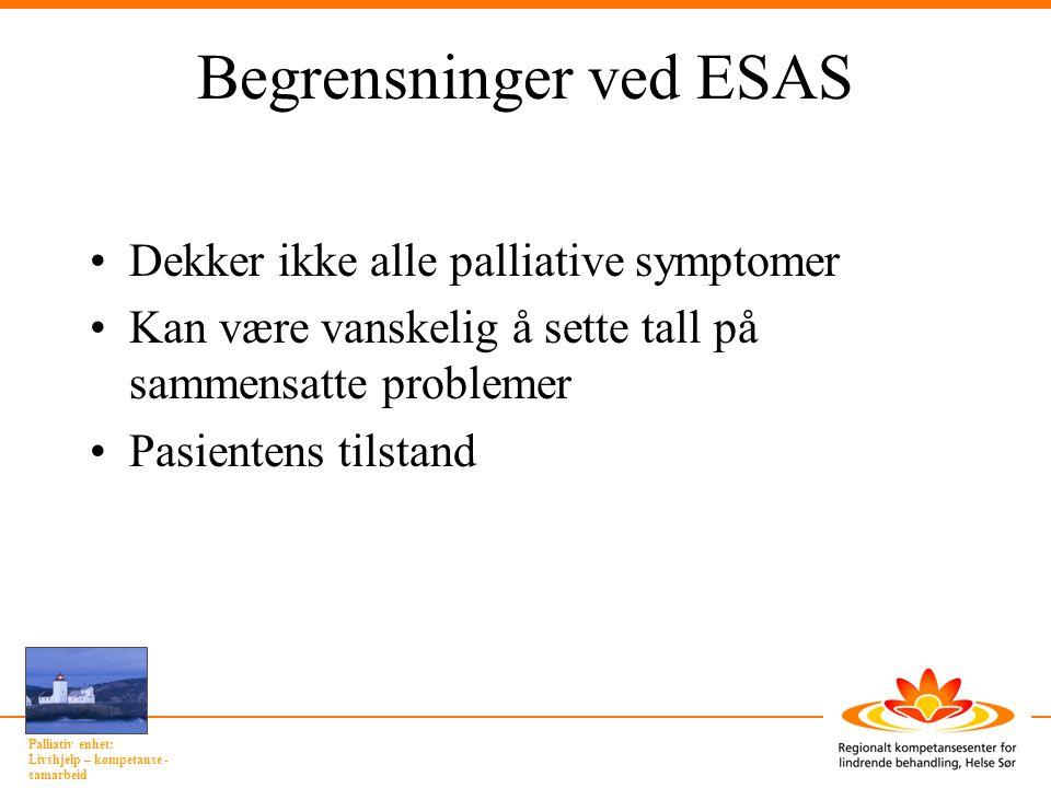 Begrensninger ved ESAS