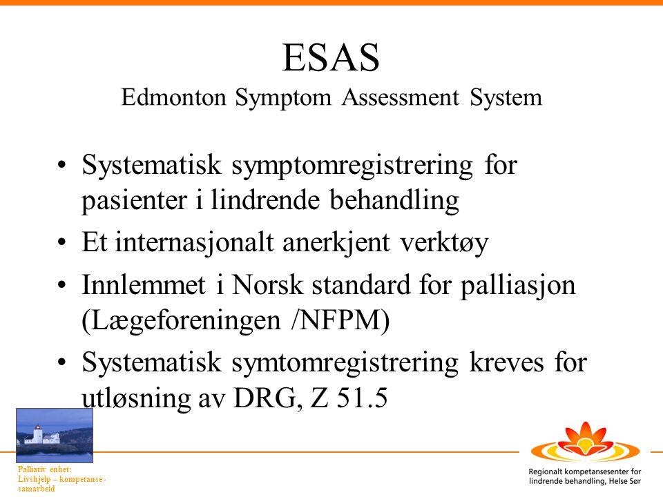 ESAS Edmonton Symptom Assessment System