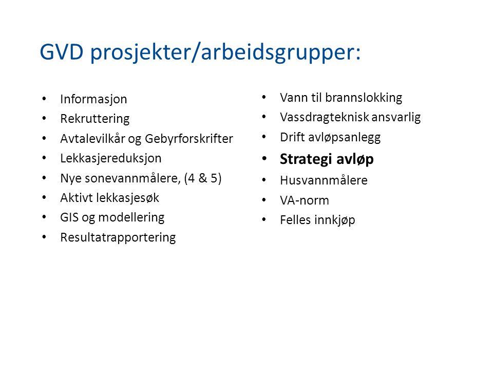GVD prosjekter/arbeidsgrupper: