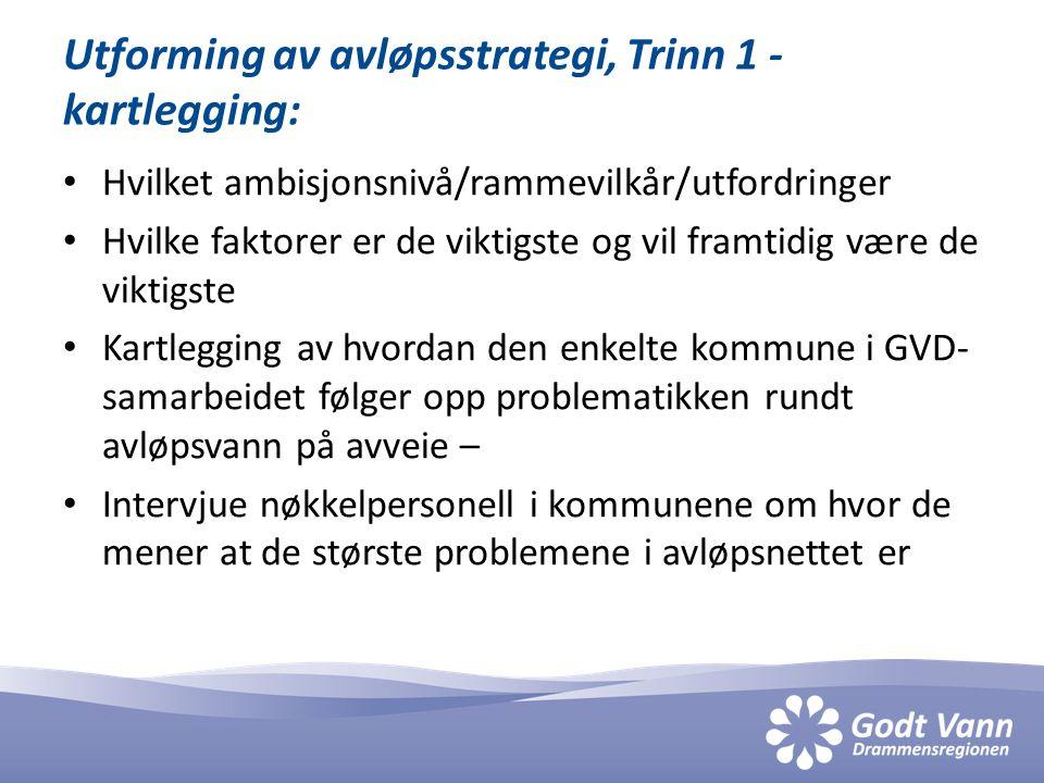 Utforming av avløpsstrategi, Trinn 1 - kartlegging: