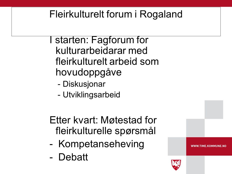 Fleirkulturelt forum i Rogaland
