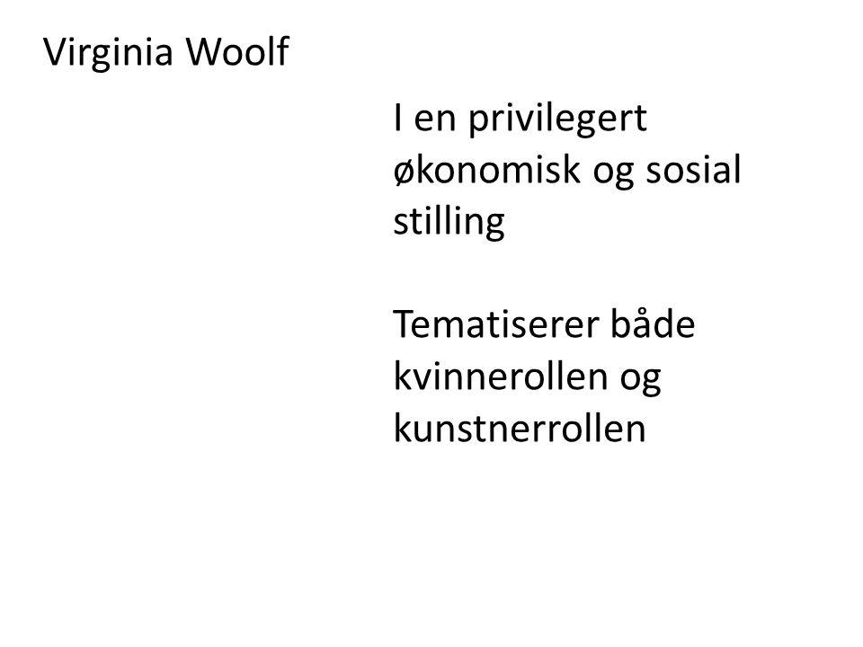 Virginia Woolf I en privilegert økonomisk og sosial stilling.