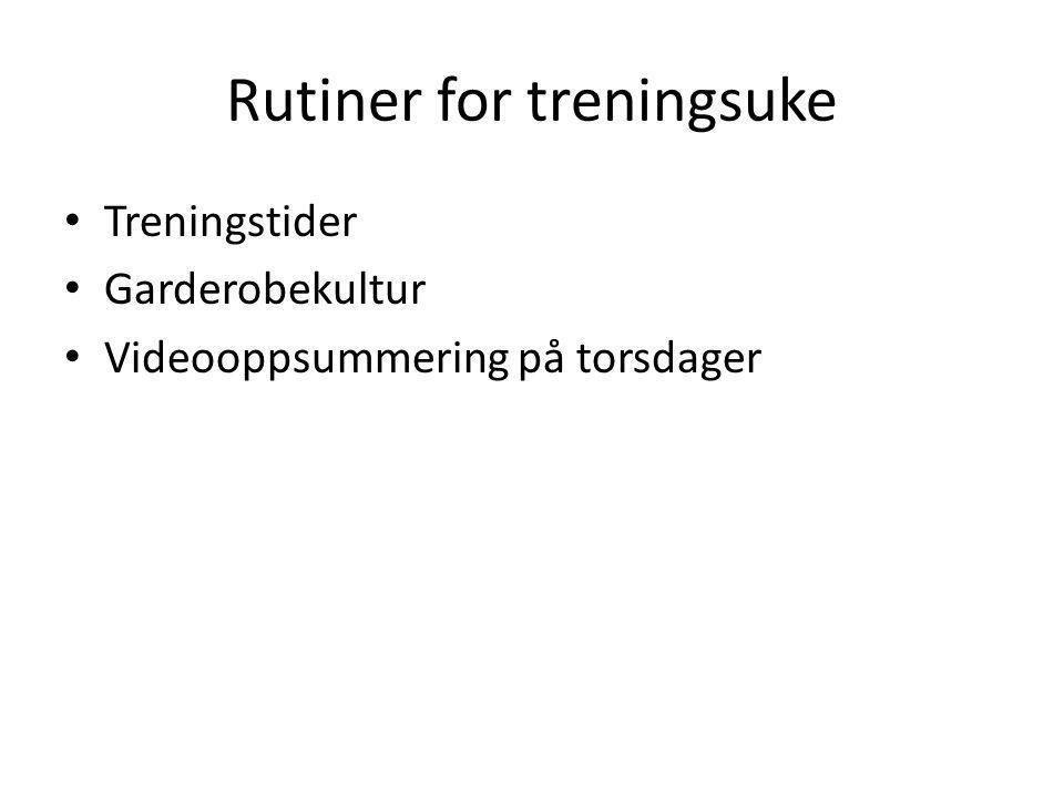 Rutiner for treningsuke