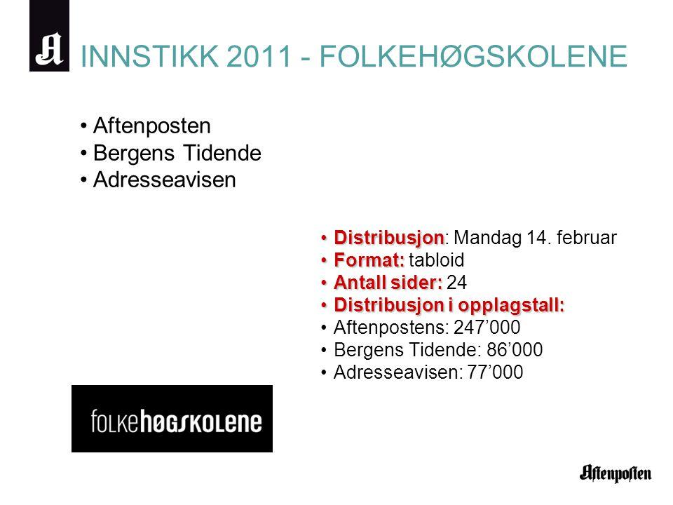 INNSTIKK 2011 - FOLKEHØGSKOLENE