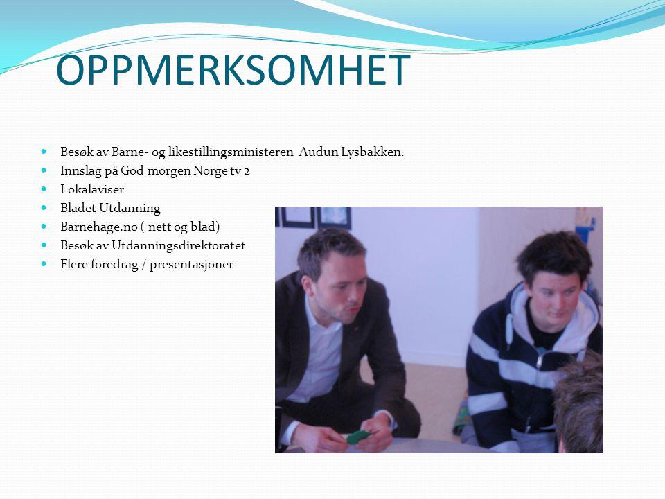 OPPMERKSOMHET Besøk av Barne- og likestillingsministeren Audun Lysbakken. Innslag på God morgen Norge tv 2.