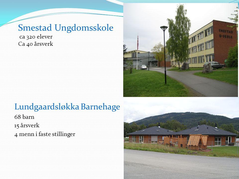 Smestad Ungdomsskole Lundgaardsløkka Barnehage ca 320 elever