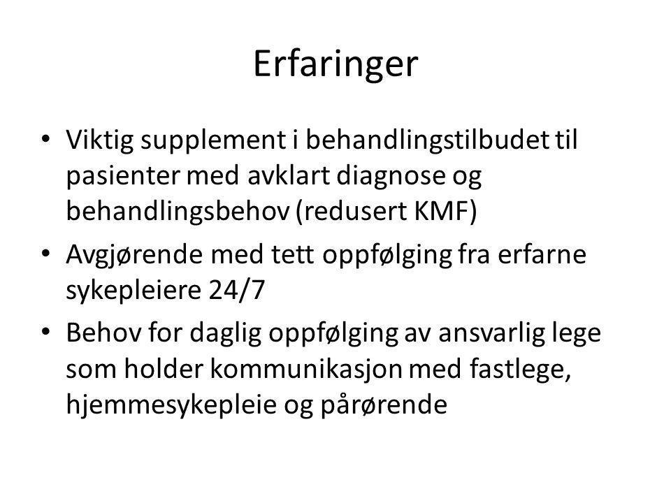 Erfaringer Viktig supplement i behandlingstilbudet til pasienter med avklart diagnose og behandlingsbehov (redusert KMF)