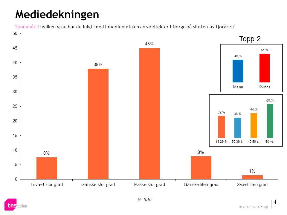 Mediedekningen Spørsmål: I hvilken grad har du fulgt med i medieomtalen av voldtekter i Norge på slutten av fjoråret