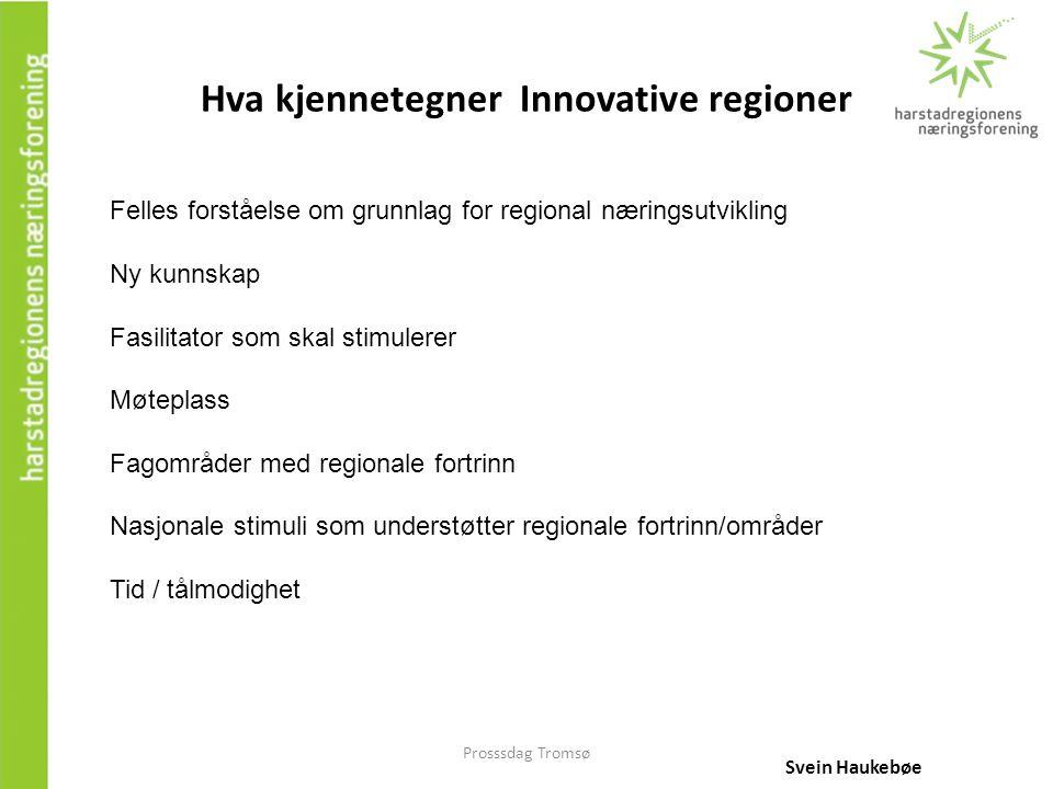 Hva kjennetegner Innovative regioner