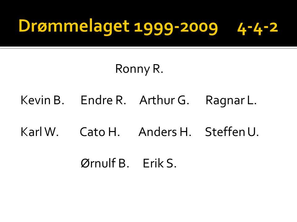 Drømmelaget 1999-2009 4-4-2 Ronny R. Kevin B.