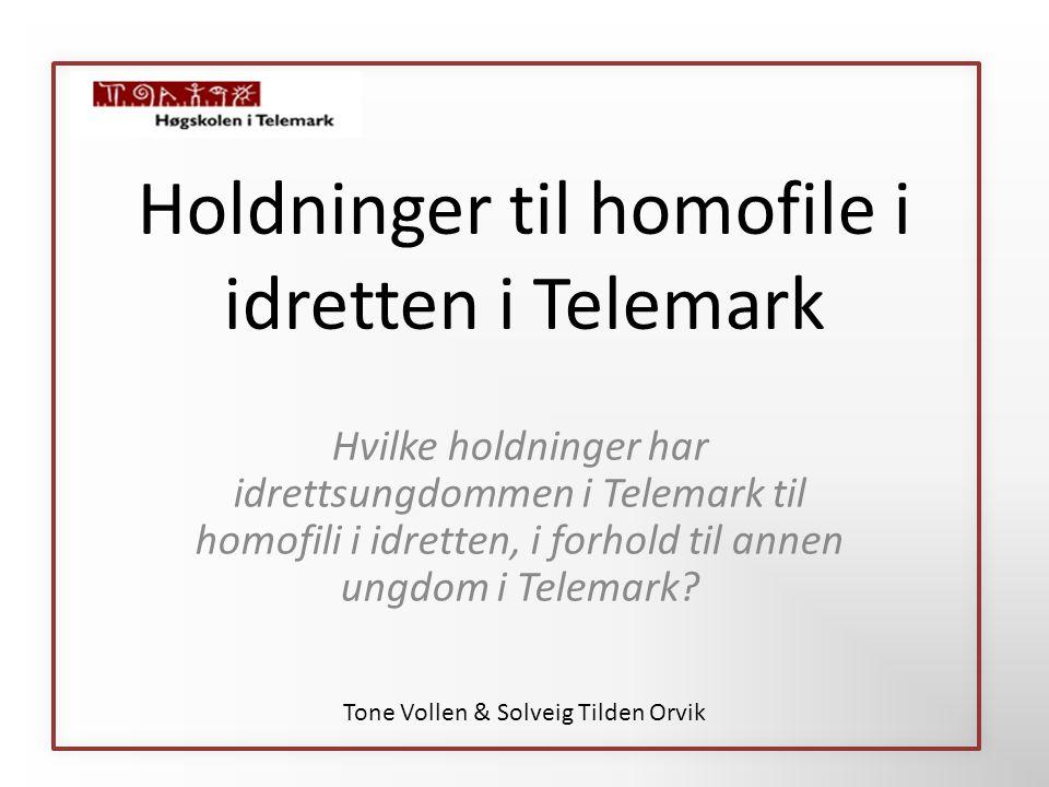 Holdninger til homofile i idretten i Telemark