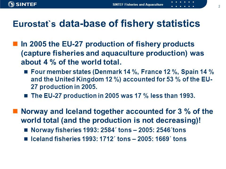 Eurostat`s data-base of fishery statistics