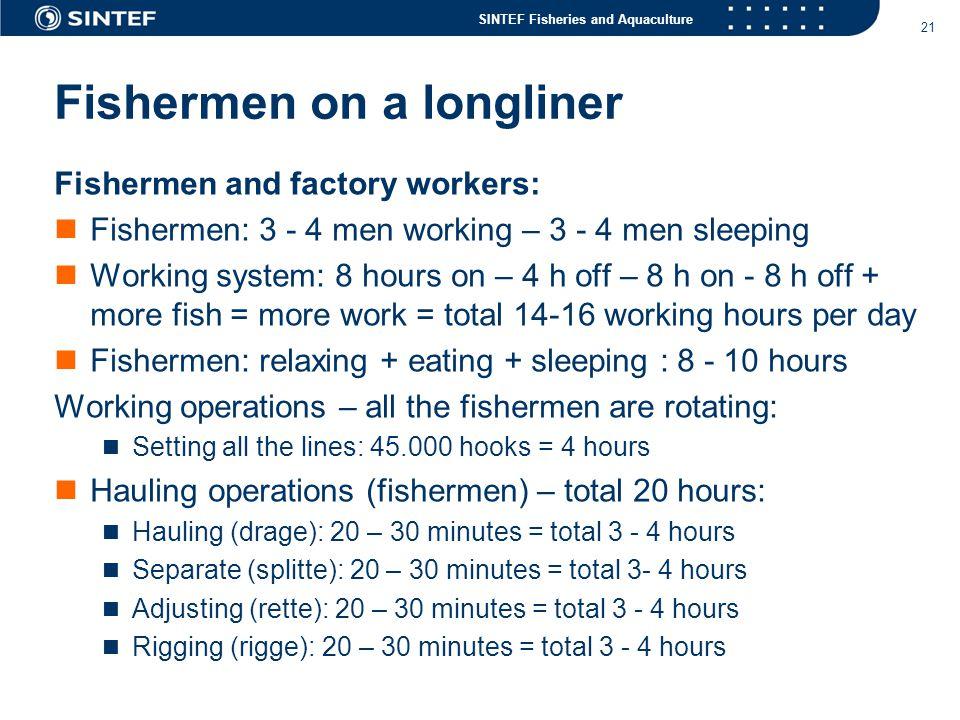 Fishermen on a longliner