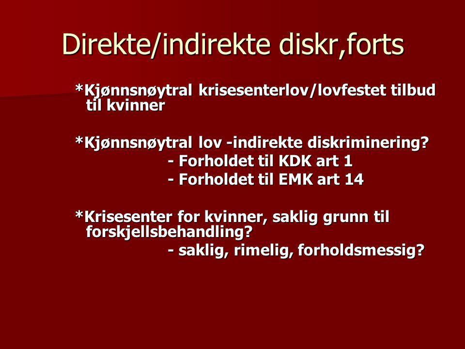 Direkte/indirekte diskr,forts
