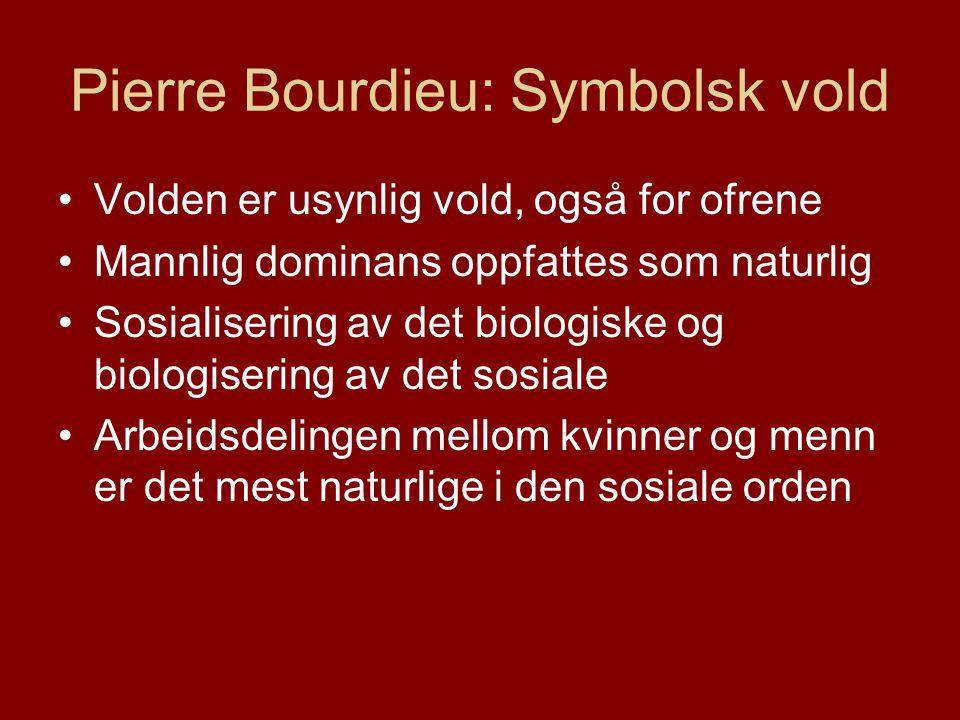 Pierre Bourdieu: Symbolsk vold