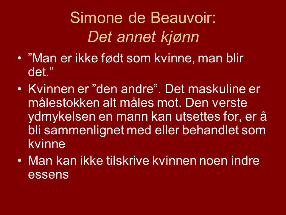 Simone de Beauvoir: Det annet kjønn