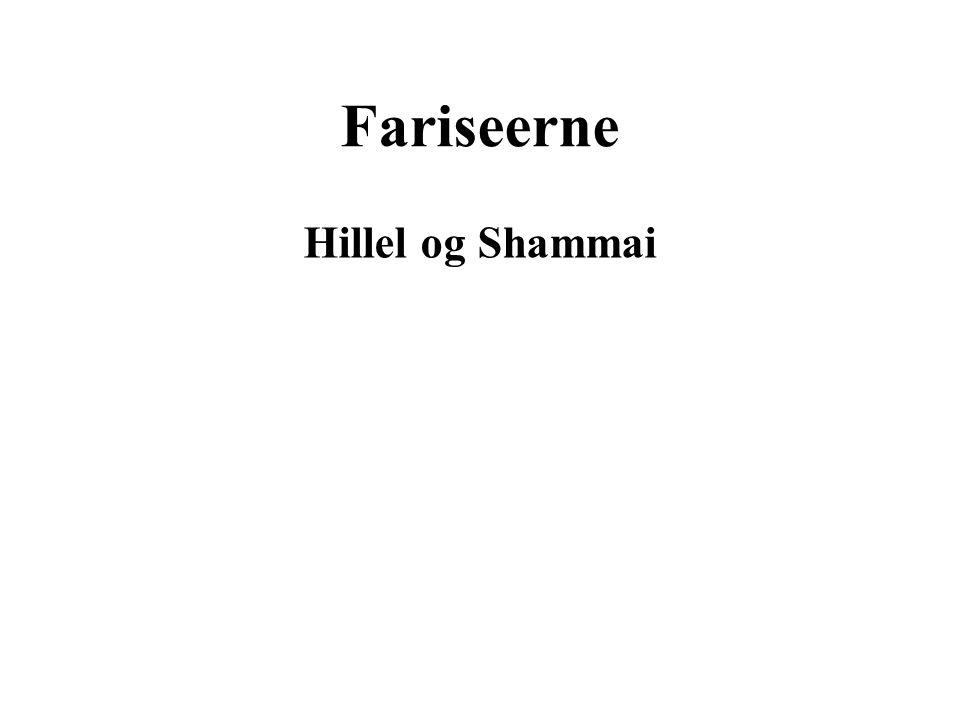 Fariseerne Hillel og Shammai