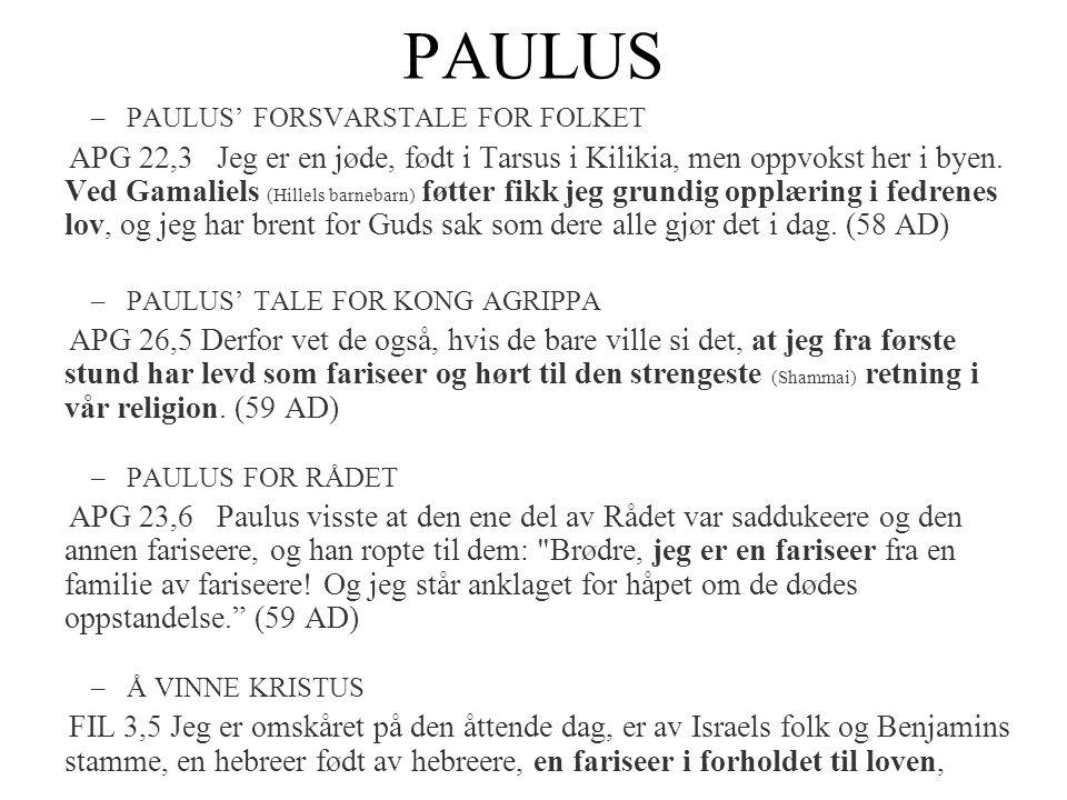 PAULUS PAULUS' FORSVARSTALE FOR FOLKET.