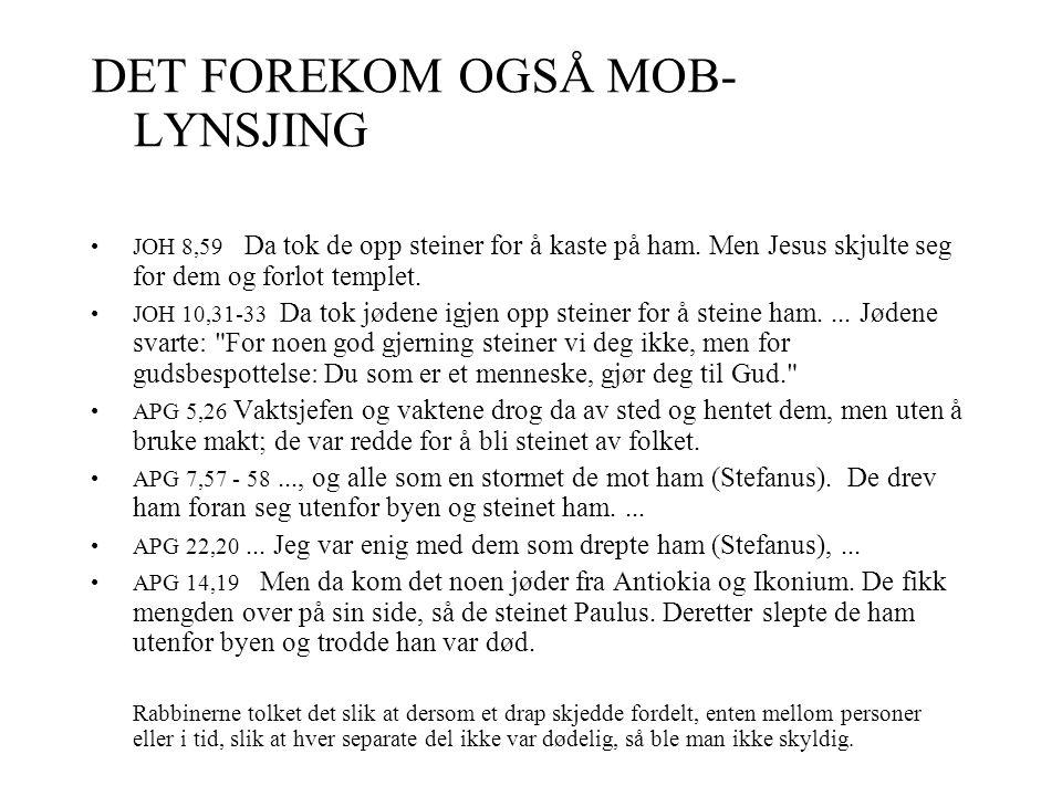 DET FOREKOM OGSÅ MOB-LYNSJING