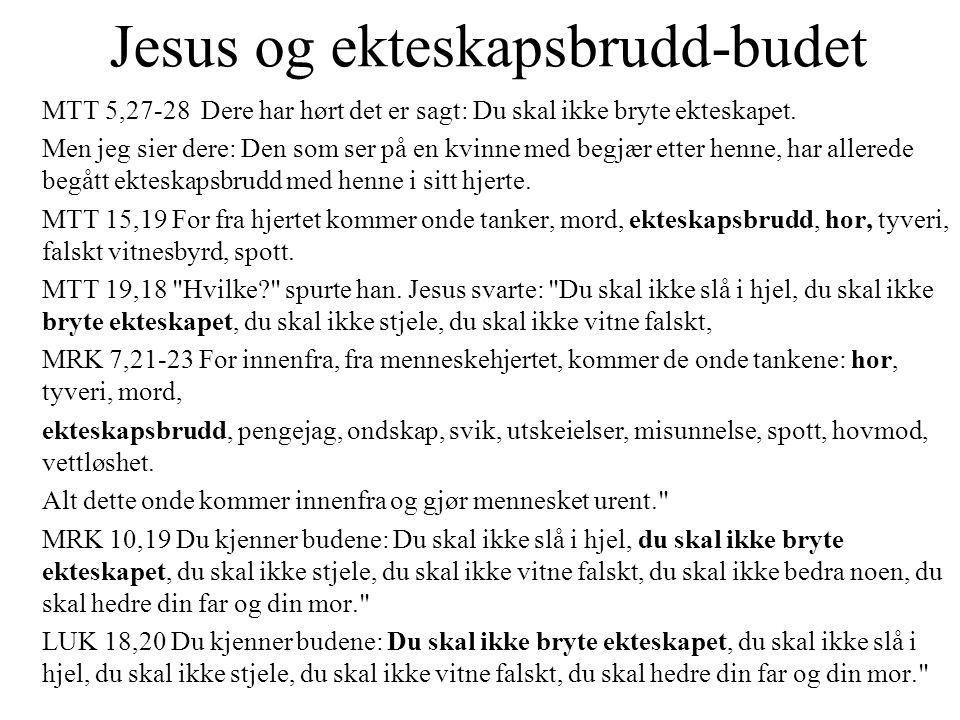 Jesus og ekteskapsbrudd-budet