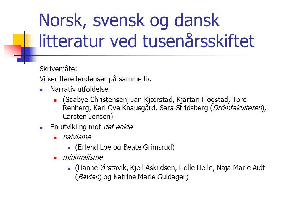 Norsk, svensk og dansk litteratur ved tusenårsskiftet