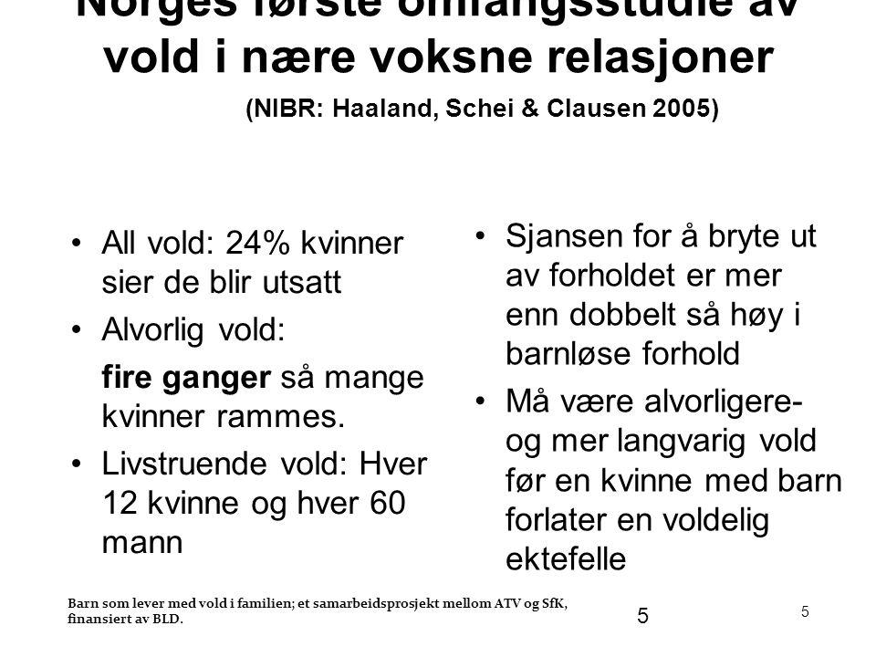 Norges første omfangsstudie av vold i nære voksne relasjoner