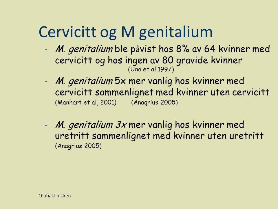 Cervicitt og M genitalium