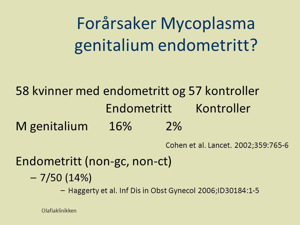 Forårsaker Mycoplasma genitalium endometritt