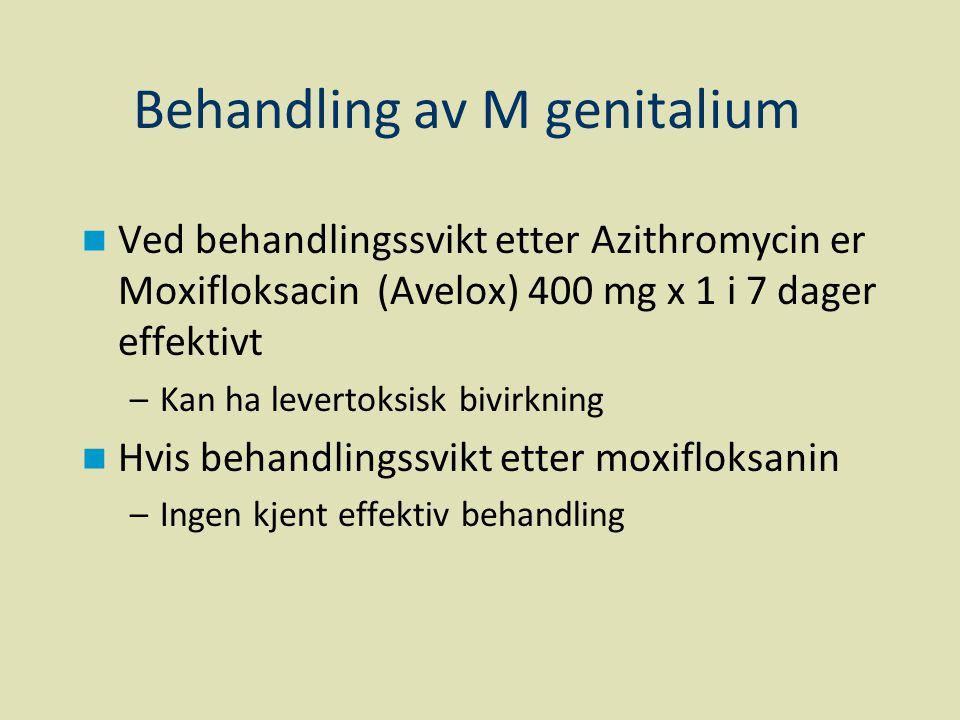 Behandling av M genitalium