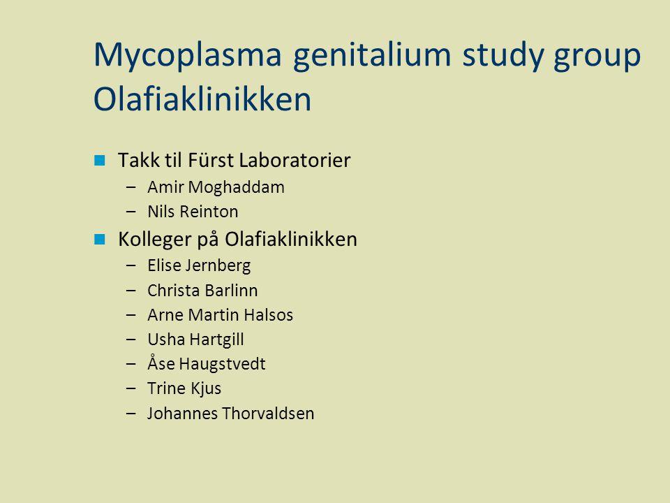 Mycoplasma genitalium study group Olafiaklinikken