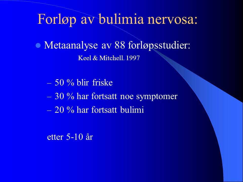 Forløp av bulimia nervosa: