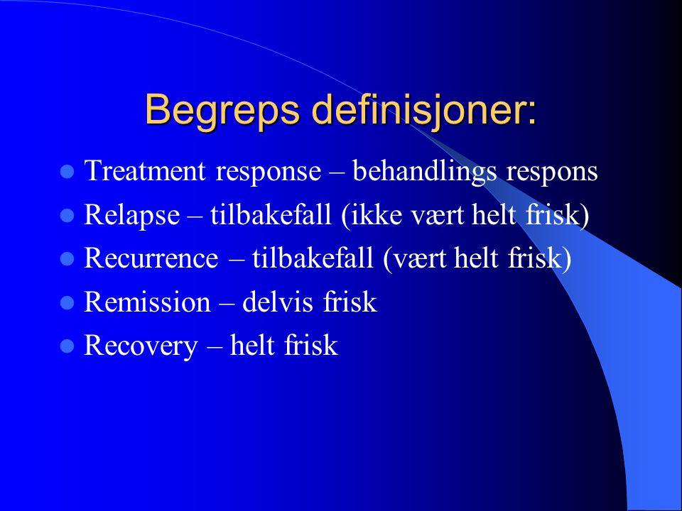 Begreps definisjoner: