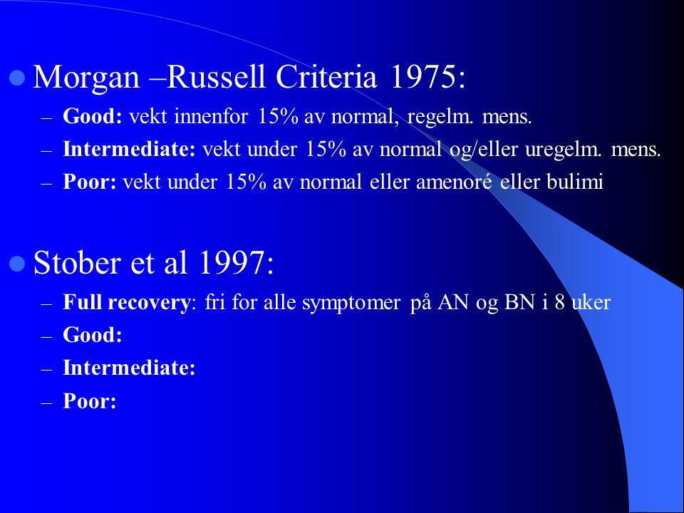 Morgan –Russell Criteria 1975: