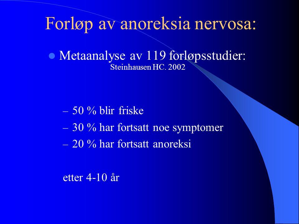 Forløp av anoreksia nervosa: