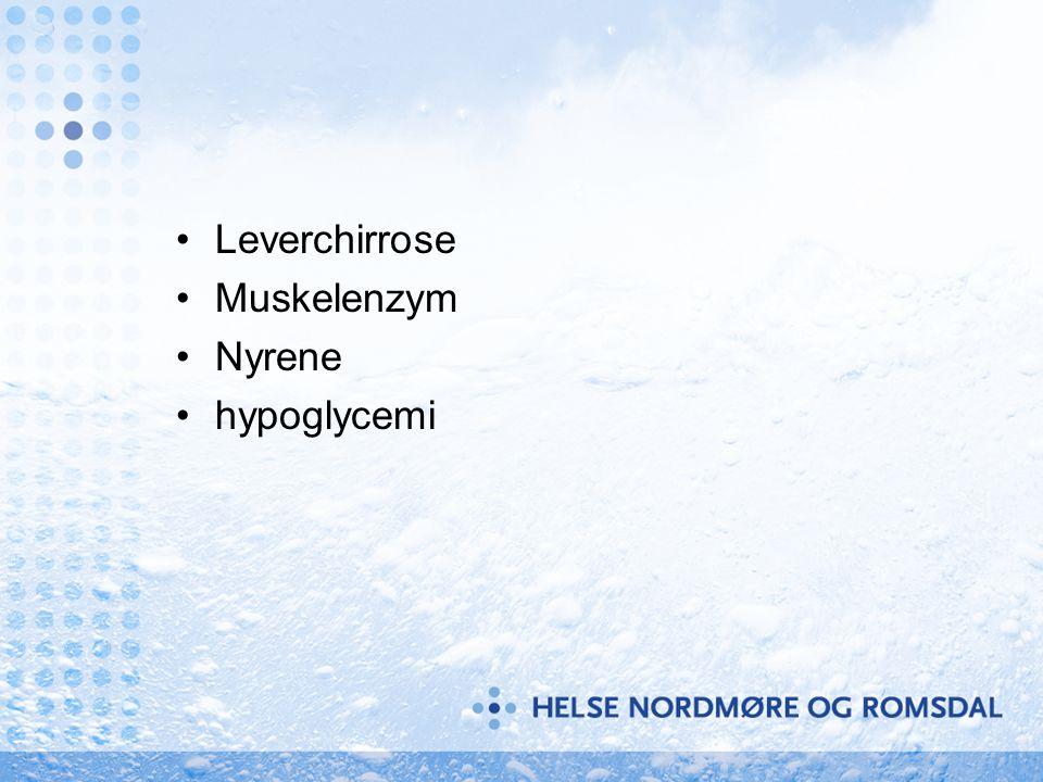 Leverchirrose Muskelenzym Nyrene hypoglycemi