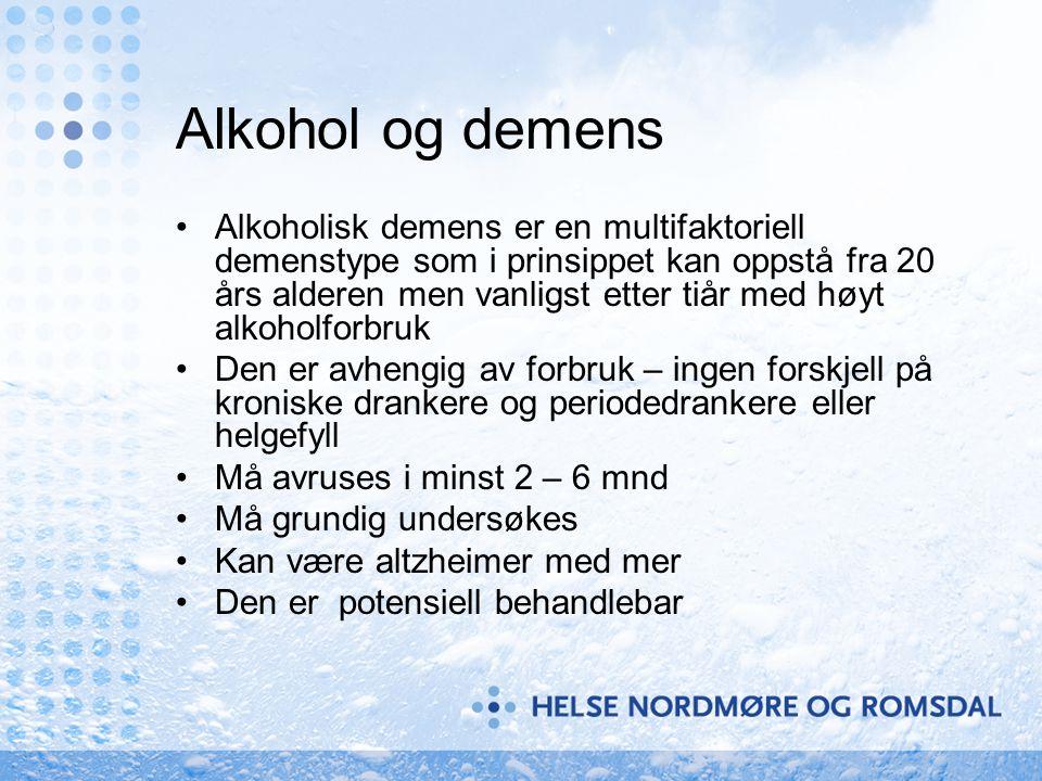 Alkohol og demens