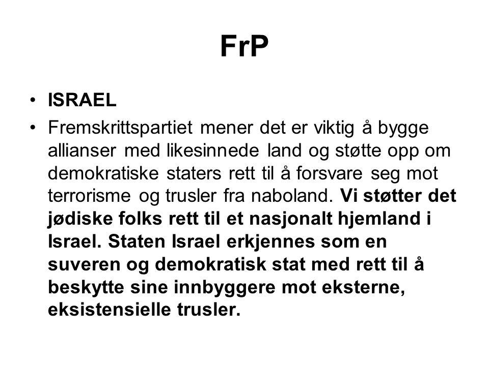 FrP ISRAEL.