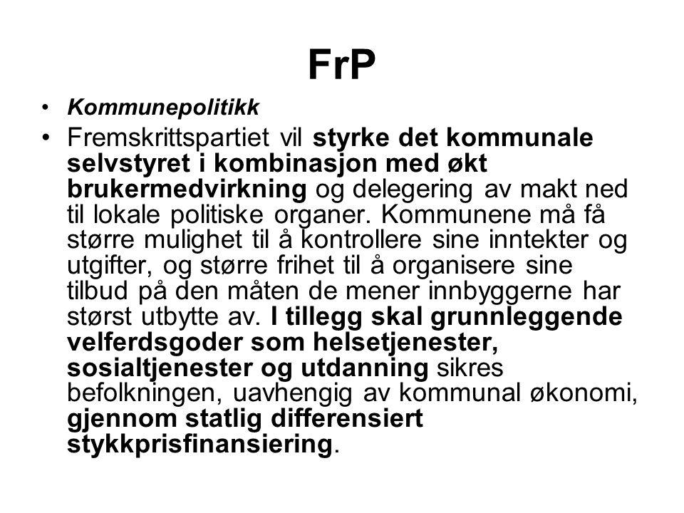FrP Kommunepolitikk.